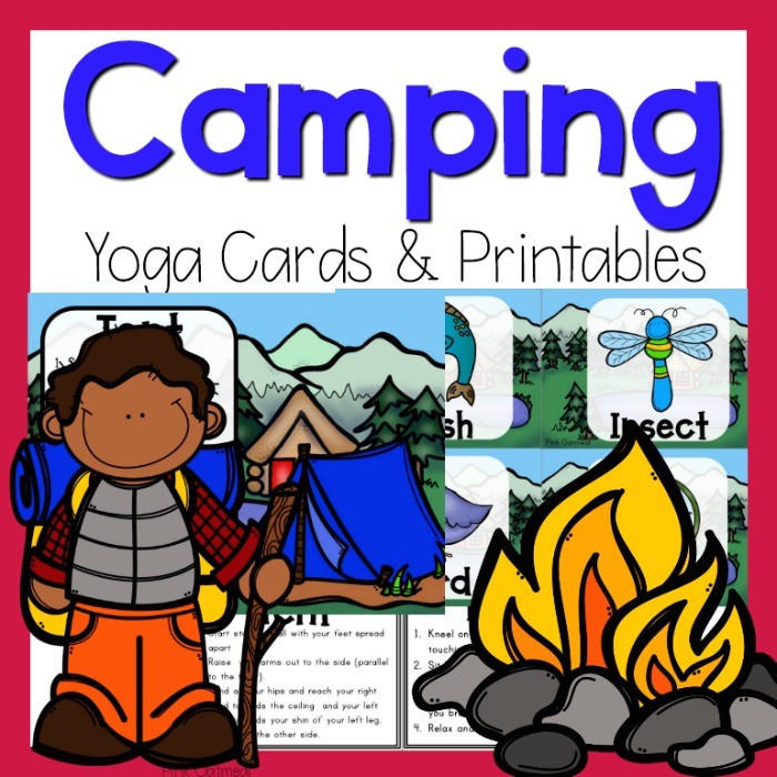 photograph about Printable Yoga Cards titled Tenting Yoga