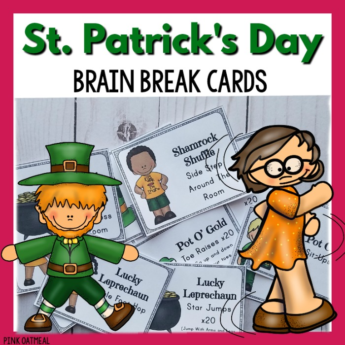12757877a St. Patrick's Day Brain Break Cards | Pink Oatmeal SHOP