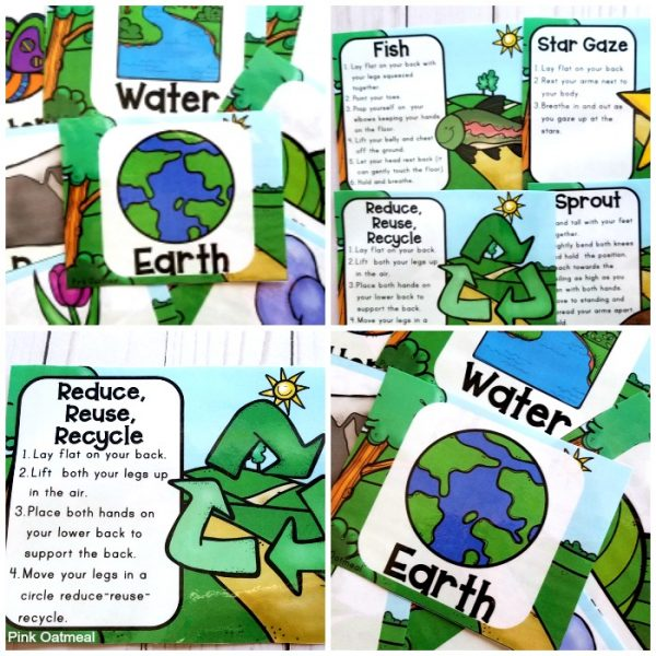 Check out these fun Earth Day Yoga cards and Printables.  Perfect for preschool, kindergarten and up!  Kids will love these activities incorporated into your lesson plans!