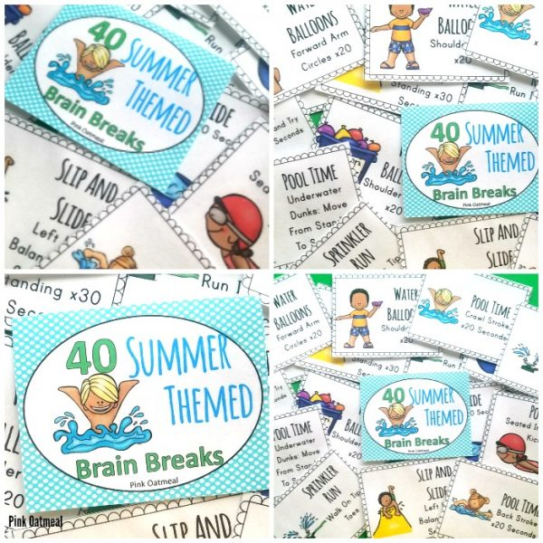 Check out these fun summer brain breaks card to encourage movement in the classroom. Kids will love these fun poses and are great for preschool, kindergarten and up. These great activities are great to do indoors or outdoors.