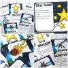 Space Yoga Cards and Printables are fun activities for kids where they can be astronauts, stars and telescopes. These are great for toddlers, preschoolers and elementary school kids.