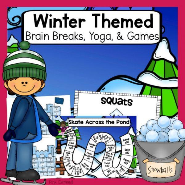 Winter Brain Breaks, Yoga, Games Cover