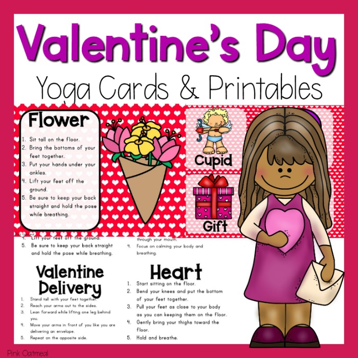 Valentine S Day Yoga Cards And Printables Pink Oatmeal Shop