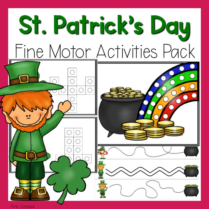 St Patricks Day Fine Motor Activities Pink Oatmeal Shop
