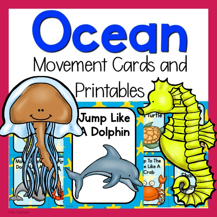 image about Break Cards for Students Printable named Ocean Themed Mind Breaks - Ocean Things to do