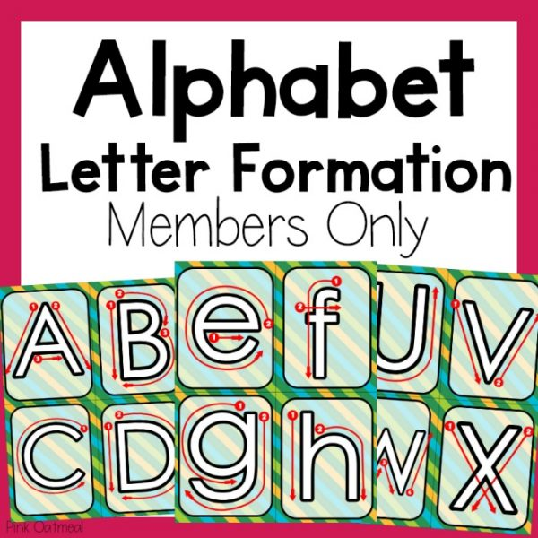 Alphabet Letter Formation Cover