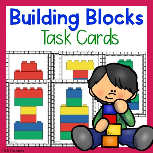 Building Blocks Task Cards Cover