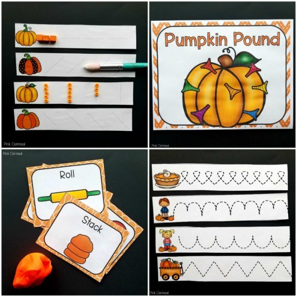 Pumpkin themed preschool fine motor activities! Fun for a pumpkin theme for occupational therapy, preschool, and kindergarten fine motor work. Great for the classroom, morning work, or occupational therapy intervention. Perfect for fine motor work in the fall!