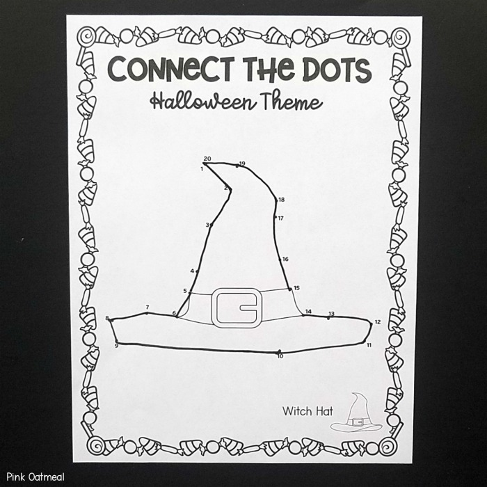 Halloween Fine Motor Skills - Connect The dots