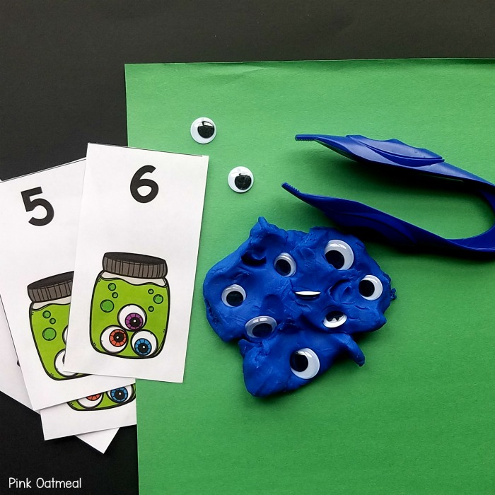 Halloween Fine Motor Activities Monster Eyes