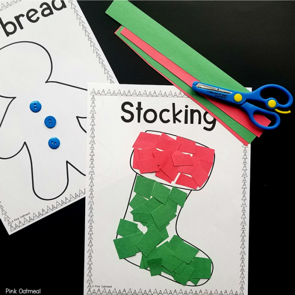 Christmas Fine Motor Activities Cutting Skills