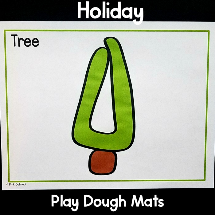 Christmas Fine Motor Activities Play Dough Mats