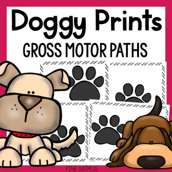 Doggy Prints Gross Motor Cover
