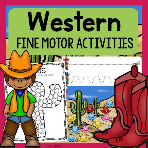 Western Fine Motor Activities Pack Cover