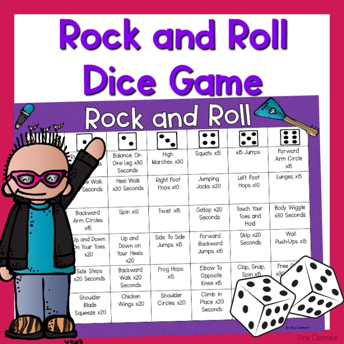 Rock And Roll Games >> Rock And Roll Gross Motor Game Pink Oatmeal Shop