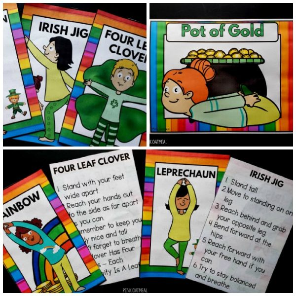 St. Patrick's Day Yoga - Clip Art Kids