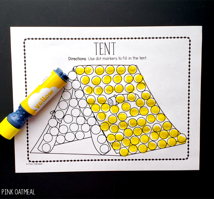 Camping Fine Motor -Dot Markers