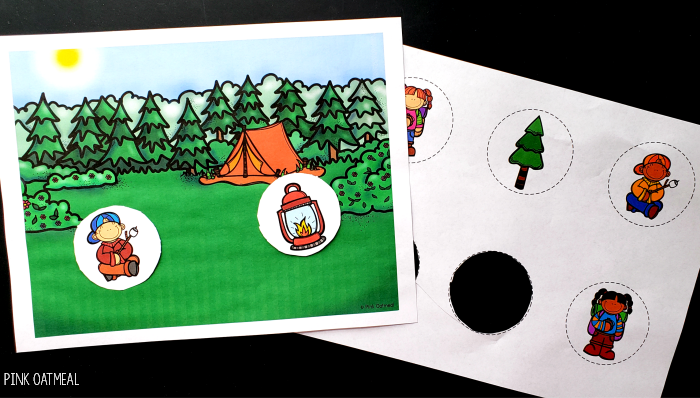 Camping Fine Motor Activities - Scissors Practice