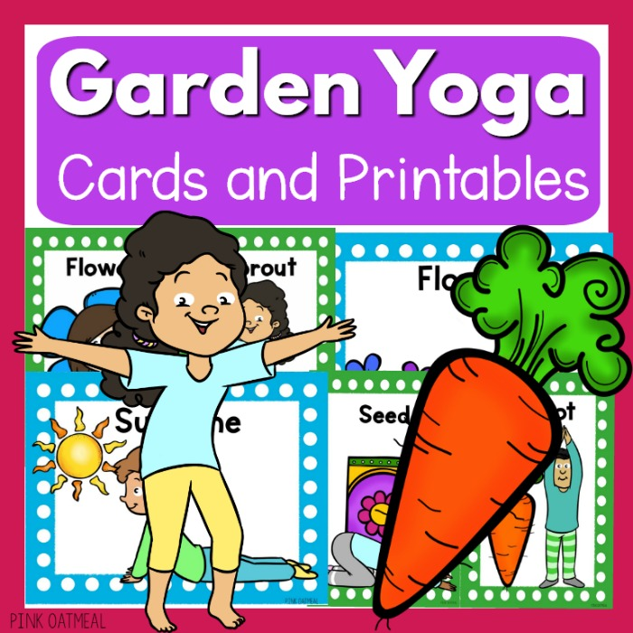 photograph about Yoga Cards Printable called Backyard garden Yoga - Clip Artwork Youngsters