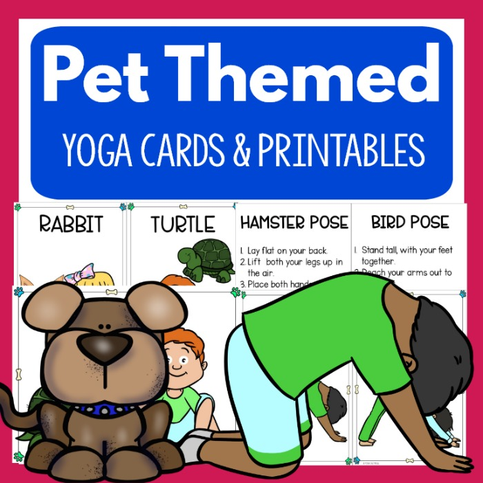 photograph about Yoga Cards Printable identified as Canine Yoga - Clip Artwork Little ones