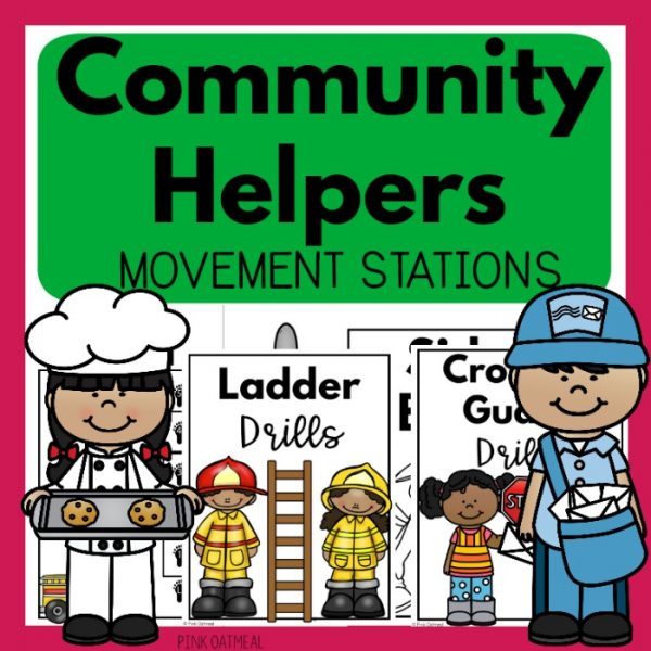 Community helpers movement stations