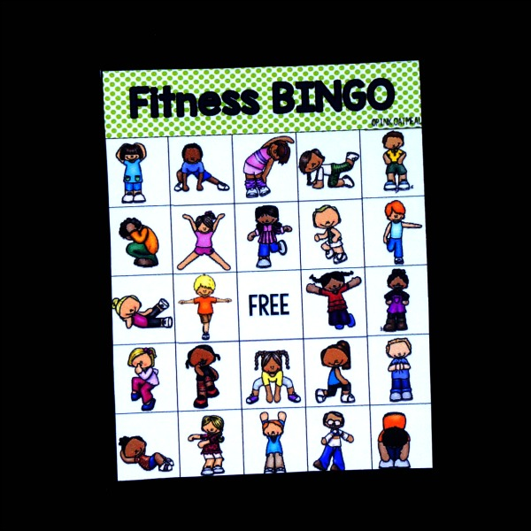 Fitness Bingo Game Board