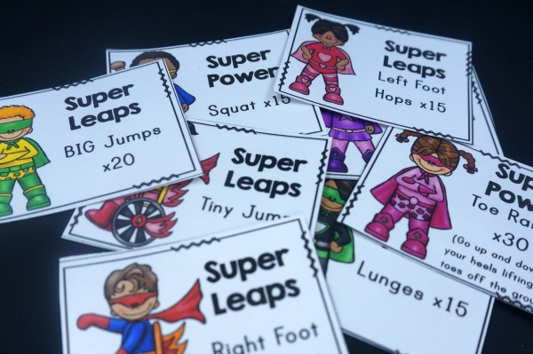 Superhero Brain Break Card Picture